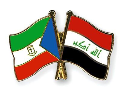 Crossed Flag Pins Equatorial-Guinea-Iraq