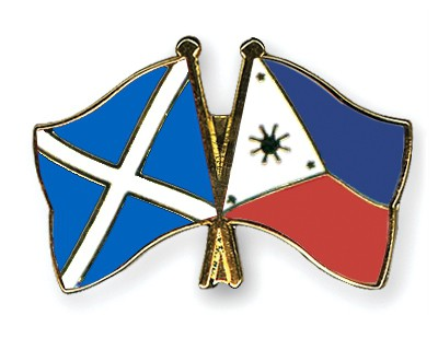 Special Offer Crossed Flag Pins Scotland-Philippines