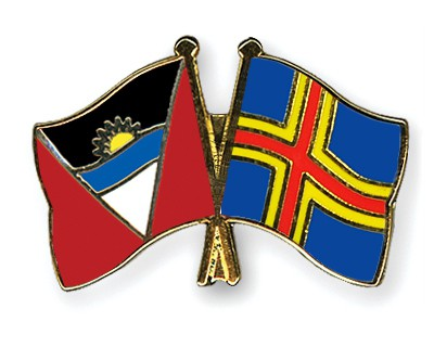 Crossed Flag Pins Antigua-and-Barbuda-Aland