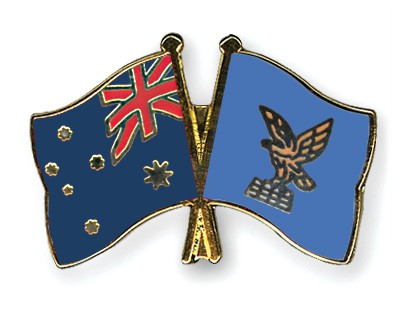 Special Offer Crossed Flag Pins Australia-Friuli-Venezia-Giulia