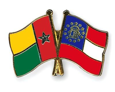 Crossed Flag Pins Guinea-Bissau-Georgia