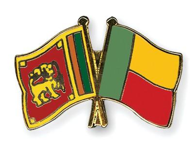 Crossed Flag Pins Sri-Lanka-Benin