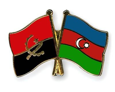 Crossed Flag Pins Angola-Azerbaijan