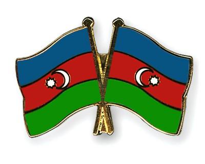 Crossed Flag Pins Azerbaijan-Azerbaijan