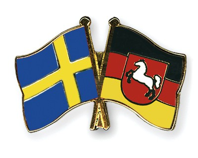 Special Offer Crossed Flag Pins Sweden-Lower-Saxony