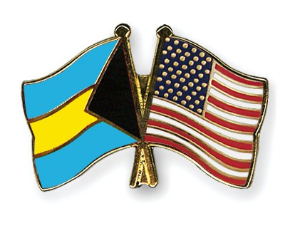 Special Offer Crossed Flag Pins Bahamas-USA