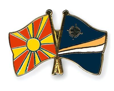 Crossed Flag Pins Macedonia-Marshall-Islands