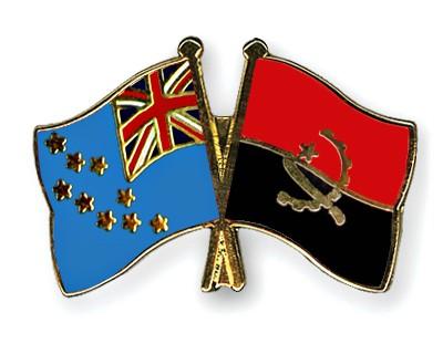 Crossed Flag Pins Tuvalu-Angola