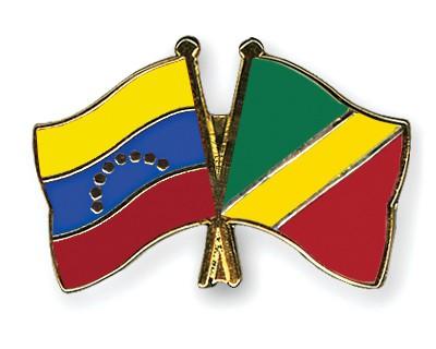 Special Offer Crossed Flag Pins Venezuela-Congo, Republic