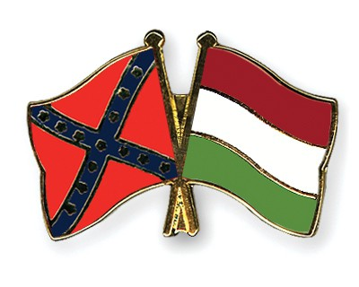 Crossed Flag Pins Confederate-battle-Hungary