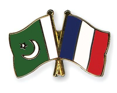 Crossed Flag Pins Pakistan-France