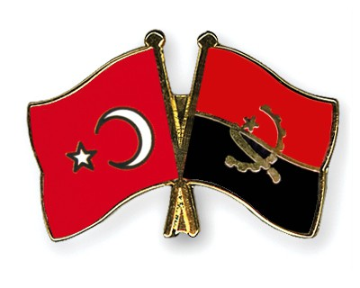 Crossed Flag Pins Turkey-Angola