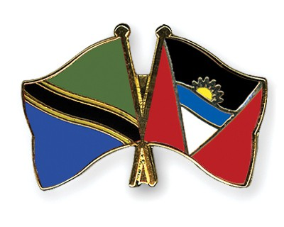 Crossed Flag Pins Tanzania-Antigua-and-Barbuda