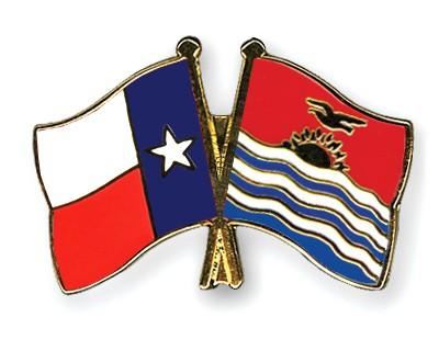 Crossed Flag Pins Texas-Kiribati