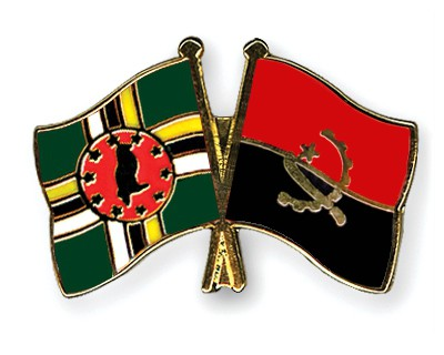 Crossed Flag Pins Dominica-Angola