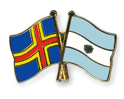 Crossed Flag Pins Aland-Argentina