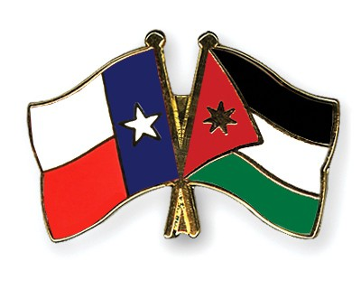 Crossed Flag Pins Texas-Jordan