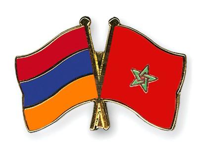 Crossed Flag Pins Armenia-Morocco