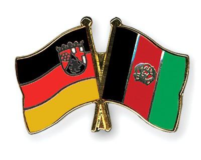 Crossed Flag Pins Rhineland-Palatinate-Afghanistan