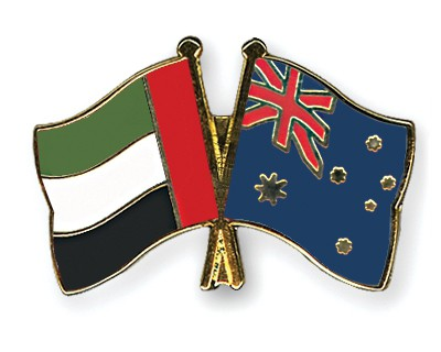 Crossed Flag Pins United-Arab-Emirates-Australia