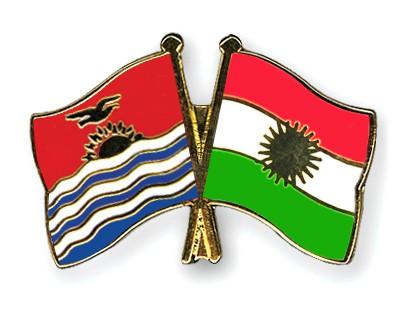 Crossed Flag Pins Kiribati-Kurdistan