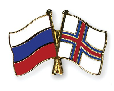 Special Offer Crossed Flag Pins Russia-Faroe Islands