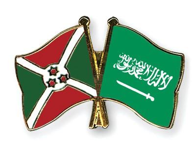 Crossed Flag Pins Burundi-Saudi-Arabia