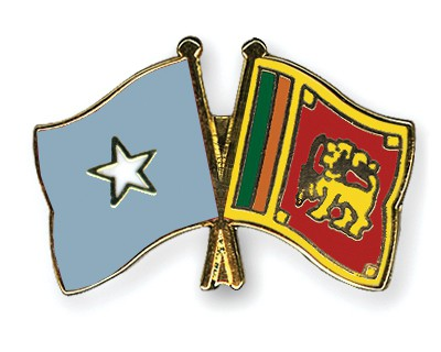 Crossed Flag Pins Somalia-Sri-Lanka