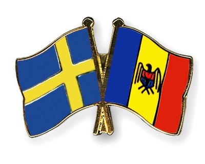 Special Offer Crossed Flag Pins Sweden-Moldova