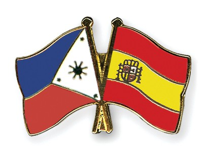 Crossed Flag Pins Philippines-Spain