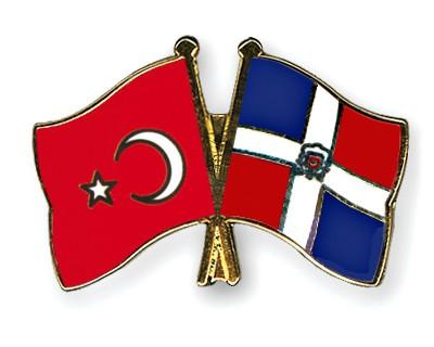 Crossed Flag Pins Turkey-Dominican-Republic