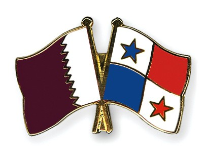 Special Offer Crossed Flag Pins Qatar-Panama