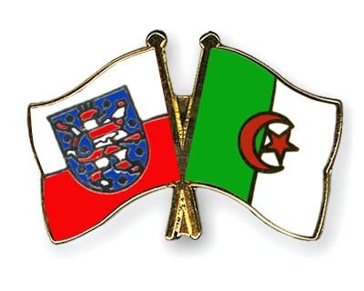 Crossed Flag Pins Thuringia-Algeria