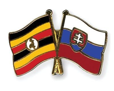 Special Offer Crossed Flag Pins Uganda-Slovakia