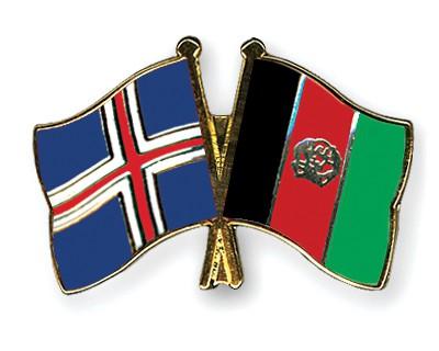Crossed Flag Pins Iceland-Afghanistan