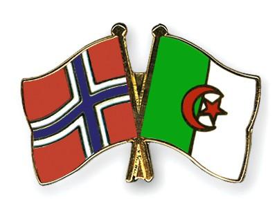 Crossed Flag Pins Norway-Algeria