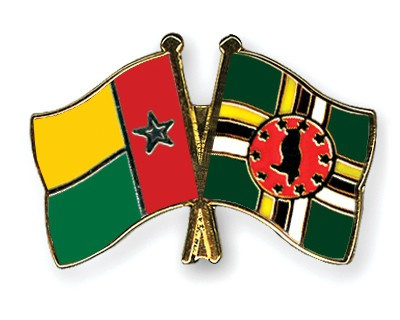 Crossed Flag Pins Guinea-Bissau-Dominica