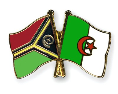 Crossed Flag Pins Vanuatu-Algeria