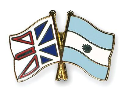 Crossed Flag Pins Newfoundland-and-Labrador-Argentina