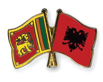 Crossed Flag Pins Sri-Lanka-Albania