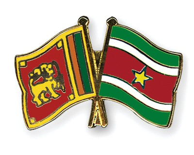 Crossed Flag Pins Sri-Lanka-Suriname