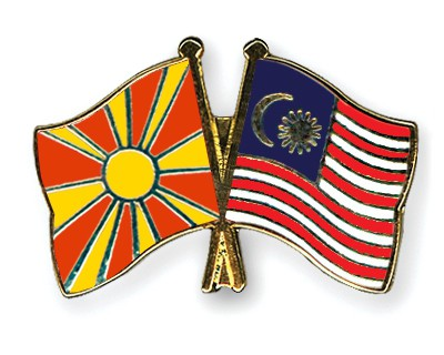 Crossed Flag Pins Macedonia-Malaysia