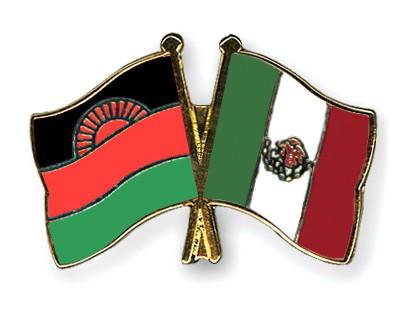 Crossed Flag Pins Malawi-Mexico