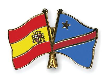 Crossed Flag Pins Spain-Democratic-Republic-of-the-Congo