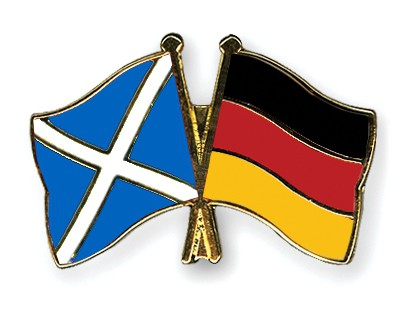 Special Offer Crossed Flag Pins Scotland-Germany