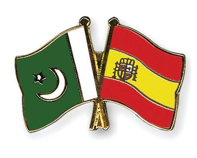 Crossed Flag Pins Pakistan-Spain