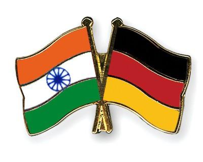 Crossed Flag Pins India-Germany