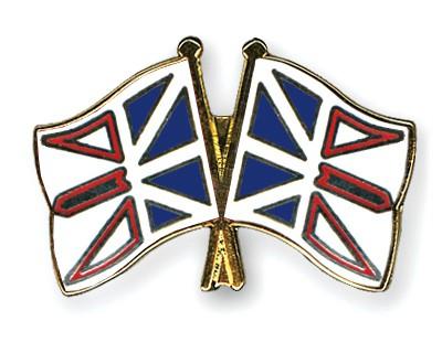 Crossed Flag Pins Newfoundland-and-Labrador-Newfoundland-and-Labrador