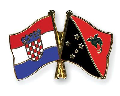 Crossed Flag Pins Croatia-Papua-New-Guinea