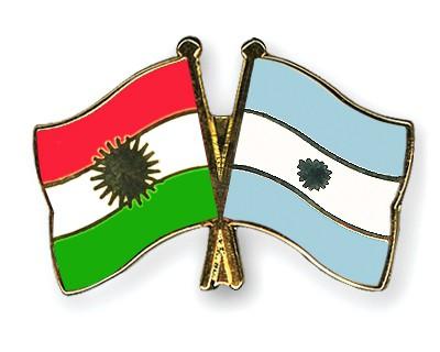 Crossed Flag Pins Kurdistan-Argentina